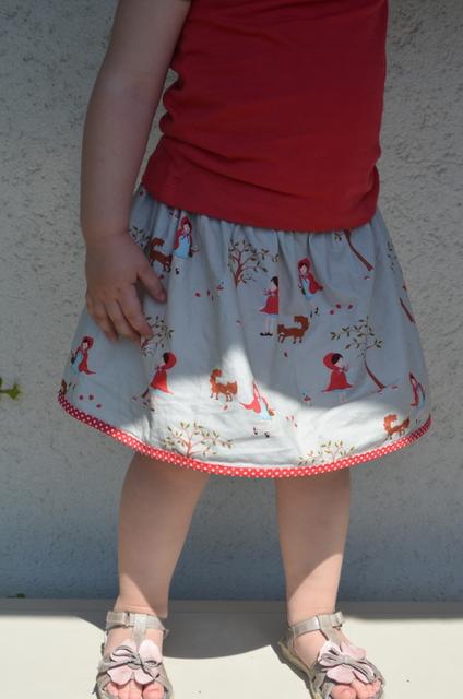 Falda de niña fácil: Lazy Days Skirt