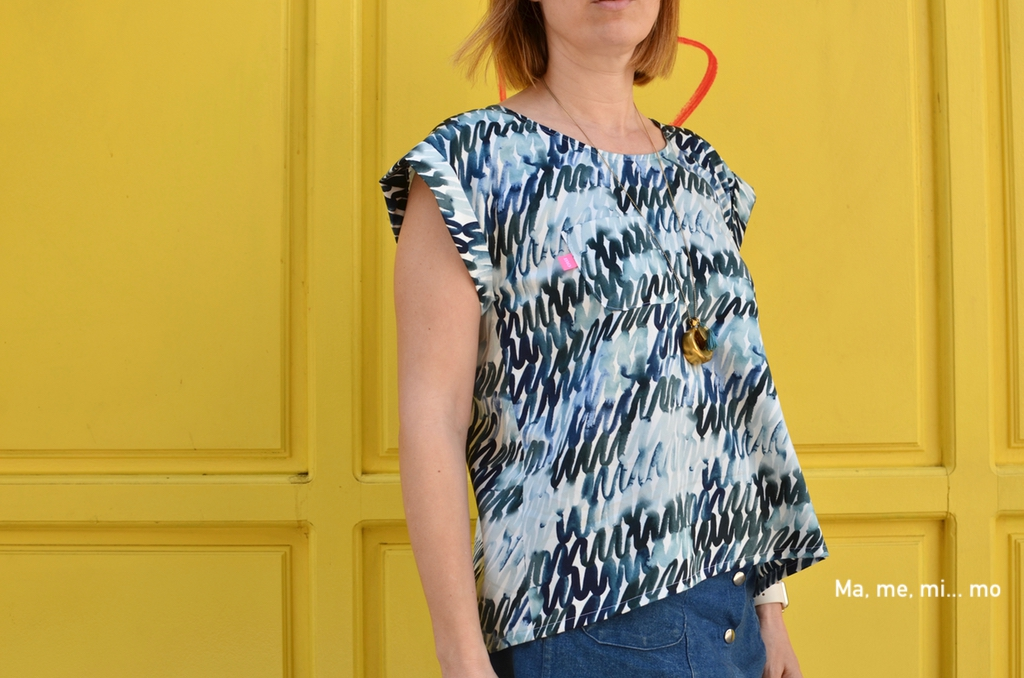 Summer Day top azul